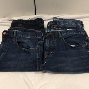 4 pairs of Old Navy skinny/adjuste Jeans 34x30
